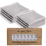 SWEET CHILD Bamboo Baby Washcloths (Bonus 8-Pack) - Premium Extra Soft & Absorbent Towels for Baby's Sensitive Skin-Perfect 10'x10'-Excellent Baby Shower/Registry Gift (10'x10', Grey)