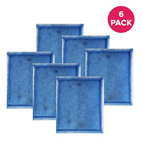 Think Crucial Aquarium Filter Replacement Parts - Compatible with Aqua-Tech EZ-Change 3 Aquarium Filter - Fits Aqua-Tech 20-40 and 30-60 Power Filters - (6 Pack)