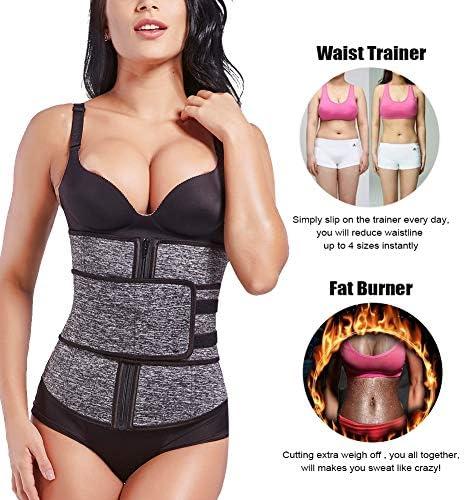 FeelinGirl Women Neoprene Sweat Waist Trainer Corset Trimmer Belt Waist Cincher Body Shaper Slimming 2