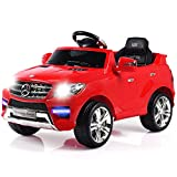 Costzon Ride On Car, Licensed Mercedes Benz ML350 6V Electric 2WD Battery Powered Kids Vehicle, Parental Remote Control & Manual Modes Car with Microphone, Lights, MP3, USB, TF, Music, Horn (Red)