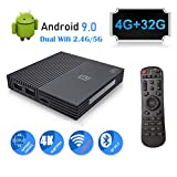 Android 9.0 TV Box A95X 4GB Ram 32GB ROM Smart 4K Android TV Box Amlogic S905 X2 CPU Support HDMI 2.1/H265 VP9 Video Decoding/Dual WiFi 2.4G 5.0G/100M Ethernet/Buletooth/USB3.0 Android Box