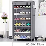 Keekos 4 Layer Multipurpose Portable Folding Shoes Rack/Shoes Shelf/Shoes Cabinet with Wardrobe Cover, Easy Installation Stand for Shoes(Shoes Rack)(Shoes Rack, Shoes Racks for Home)_4 Layer
