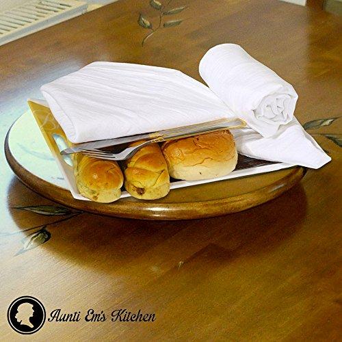 Aunti Em's Kitchen Vintage Flour Sack Kitchen Dish Towels, Commercial Restaurant Grade, Weave Cloth 100% Natural Cotton, 27 x 27, Baker's Dozen Set of 13, White