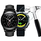 [2 Pack] Gear S2 Screen Protector, WIMAHA [Tempered Glass] Samsung Gear S2 Classic/Gear Sport/Galaxy Watch 46mm Screen Protector [Easy-Install]