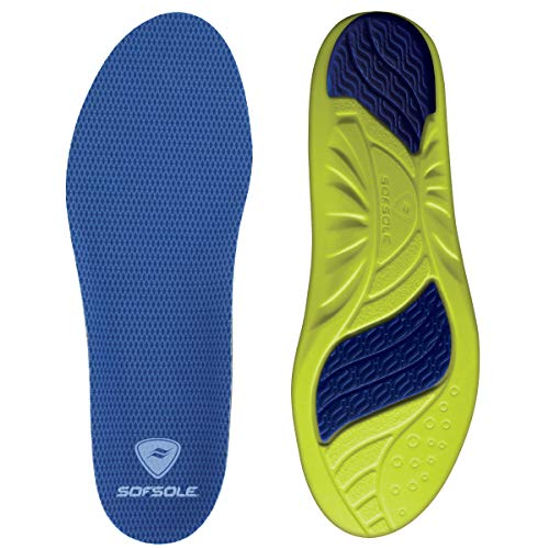 Sof Sole Insoles Women's Athlete Performance Full-Length Gel Shoe Insert, Women's Size 5-7.5 Blue