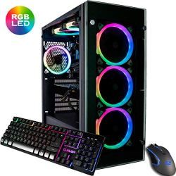 CUK Stratos Gamer PC (Liquid Cooled Intel i9-9900K, NVIDIA GeForce RTX 2080 Ti, 32GB RAM, 1TB NVMe SSD + 2TB, 750W Gold PSU, AC WiFi, Windows 10) Best Tower Desktop Computer for Gamers