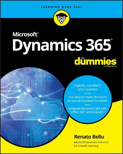 Microsoft Dynamics 365 For Dummies Front Cover