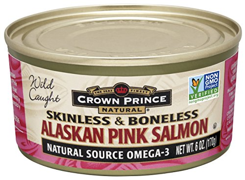 Crown Prince Natural Skinless & Boneless Alaskan Pink Salmon, 6-Ounce Cans