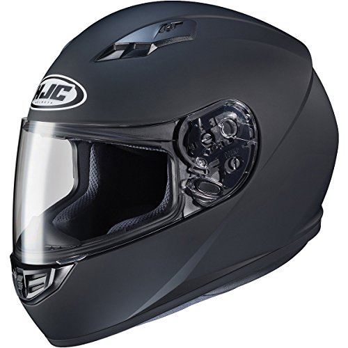 HJC Helmets CS-R3 Unisex-Adult Full Face Matte Motorcycle Helmet (Matte Black, Medium)