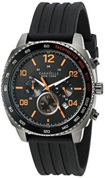 Caravelle New York Men's Quartz Stainless Steel Dress Watch (Model: 45B141)
