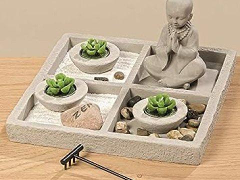 zen garten deko meinposten. zen garten buddha mit harke & teelichtern feng