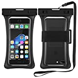 RANVOO [Floating] Waterproof Phone Pouch, Dry Bag Case for iPhone XS Max XR X 8 Plus 7 Plus 6 6s Plus, Samsung Galaxy S9 Plus S8 Edge Note 8 7, LG G5 G6, up to 6.8'- Black