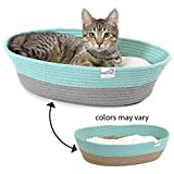 Kitty City Cotton Rope Woven Cat Bed, Cat House- Colors may vary
