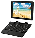 RCA Viking Pro 10' 2-in-1 Tablet 32GB Quad Core with Touchscreen and Detachable Keyboard Google Android 6.0 (10', Black)