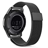 Gear S3 Watch Band, MoKo Milanese Loop Stainless Steel Mesh Smart Watch Strap for Samsung Gear S3 Frontier / S3 Classic / Moto 360 2nd Gen 46mm Smartwatch, BLACK (NOT FIT S2 & S2 Classic & Fit2)
