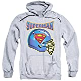 Superman Dc Comics Football Helmet Adult Pull Over Hoodie