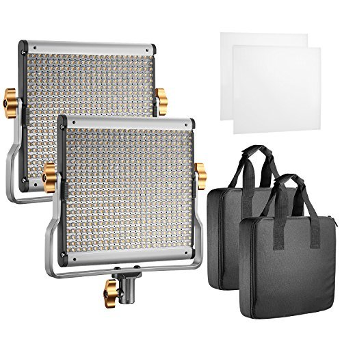 Neewer 2-Pack LED Video Light Stand Kit