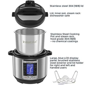 Instant-Pot-Ultra-10-in-1-Electric-Pressure-Cooker-Sterilizer-Slow-Cooker-Rice-Cooker-Steamer-Saute-Yogurt-Maker-Cake-Maker-Egg-Cooker-and-Warmer-6-Quart-16-One-Touch-Programs