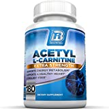 BRI Nutrition Acetyl l-Carnitine - 180 Count 500mg L Carnitine Capsules - 1000mg Servings