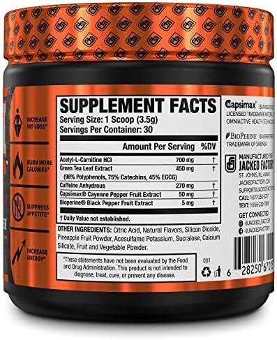 Burn-XT Thermogenic Fat Burner Powder - Weight Loss Supplement, Appetite Suppressant, Pre Workout Energy Booster - Acetyl L Carnitine, Green Tea Extract (EGCG), Capsimax - 30 Sv, Strawberry Lemonade 4