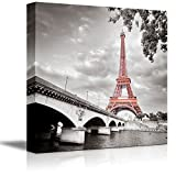 "wall26 - Eiffel Tower in Paris France - Canvas Art Wall Decor - 16""x16"""