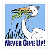 CafePress Dont Give Up3 Square Sticker 3' X 3 Square Bumper Sticker Car Decal, 3'x3' (Small) or 5'x5' (Large)