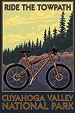 Cuyahoga Valley National Park, Ohio - Mountain Bike (12x18 Fine Art Print, Home Wall Decor Artwork Poster)