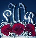3 Swarovski Crystal Monogram Wedding Cake Top Letters - 1 Large 2 Small