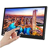 Eleduino 15.6' inch Portable Touchscreen Monitor Second Screen Monitor for Laptop PC 1920x1080 with USB-C & HDMI Video Inputs,HDR,Ultra-Slim Bulit in Speakers