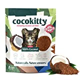 CocoKitty All-Natural Lightweight Long-Lasting Cat Litter - Dust Free - Hypoallergenic - Flushable - Biodegradable