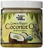 Primal Essence Coconut Oil, Infused Lemon Pepper, 0.5 Pound