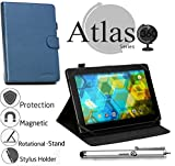 Navitech Blue Faux Leather Case Cover with Stand Compatible with TheKOCASO MX1082 [10.1 INCH] [Android 5.1 Lollipop] Tablet