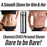 Cleancut - ES412 - Intimate and Sensitive Area Shaver - Designed for...