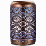 Ultrasonic Essential Oil Diffuser, ARVIDSSON 260ml Metal Aromatherapy Diffusers for Essential Oils, 7 Colors Changing Light & Whisper-quiet, Best Gift Idea