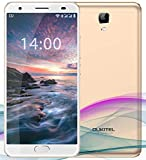 OUKITEL OK6000 Plus Unlocked Smartphones, 5.5 '' FHD MT6750T Octa-Core, 4GB RAM 64GB ROM Unlocked Cell Phones, 16MP Cameras, 6080mAh Big Battery, Dual Sim, Fingerprint Recognization-Gold