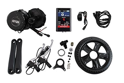 BBS02 48V 750W 8fun Bafang Mid Drive Motor Ebike bicycle Kit BB:68mm with Colour Display