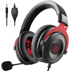 EKSA Xbox One Headset, Gaming Headset, PS4 Headset, PC Gaming Headphones with Noise Cancelling Mic, Soft Memory Earmuffs for PC, Laptop, Video Game with Detachable Microphone Volume Control