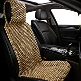 shakar Natural Wood Beads Car Seat Cushion-Massage Seat Covers for Car Front Seat Only-Cooling for Summer Use,1 Piece (Wood Beads)