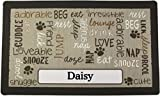 Drymate Pet Placemat, Dog Food Mat, Cat Food Mat - Personalized Pet Food Mat Personalized Placemats (Made from Recycled Fibers, Machine Washable) (Small - 12' x 20', Linen - Tan)