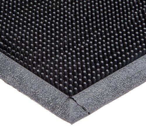 Durable Heavy Duty Rubber Fingertip Outdoor Entrance Mat, 36' x 72', Black