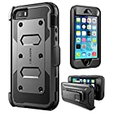i-Blason, iPhone5SE-Armorbox-Black iPhone 5/5s/SE Case, [Armor Box] built in [Screen Protector] [Full body] [Heavy Duty Protection ]/Holster/Bumper Case for Apple iPhone SE 2016 Release/Compatible with iPhone 5S/5, Black