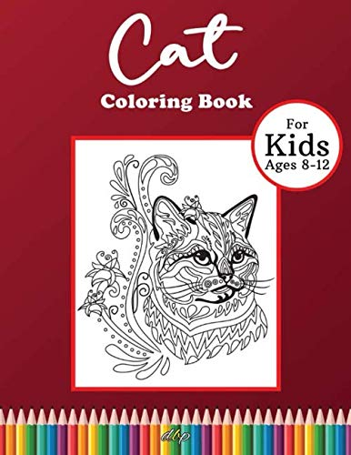 Cat Coloring Book For Kids Ages 8 12 Large Mandala Cat Drawing Book For Kids Funny Cats And Adorable Kittens Coloring Book For Kids Cover 8 5x11 In Amazon Co Uk Publication Designer Books Books