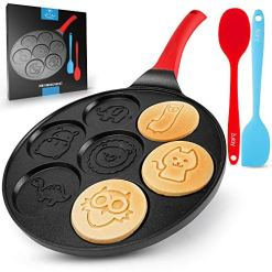 Zulay Pancake Pan With 7 Animal Face Designs