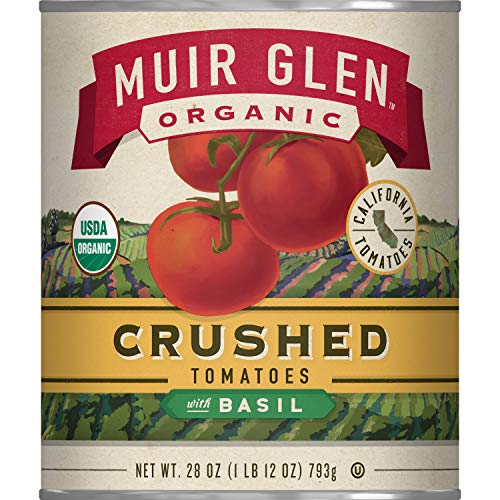 Muir Glen Crushed Tomatoes with Basil, 28 Ounce Can (Pack of 12)