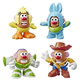 Potato Head Mr Disney/Pixar Toy Story Mini 4 Pack Buzz, Woody, Ducky, Bunny Figures Toy for Kids Ages 2 & Up