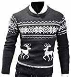 Product review for RRINSINS Mens Casual Slim Fit Christmas Print Long Sleeve Knitwear Sweater