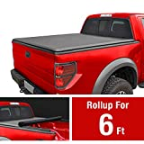 MaxMate Roll Up Truck Bed Tonneau Cover Works with 2005-2019 Nissan Frontier; 2009-2014 Suzuki Equator   Fleetside 6' Bed   for Models with or Without The Utili-Track System