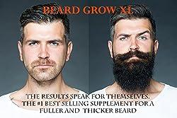 Beard Grow XL | Facial Hair Supplement | Vegan | #1 Mens Hair Growth Vitamins | for Thicker and Fuller Beard  Image 1