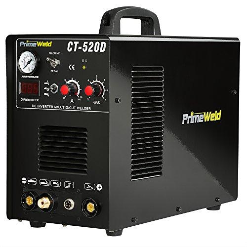 PrimeWeld Ct520d 50 Amps Plasma Cutter, 200 Amps Tig Welder and 200 Amps Stick Welder Combo