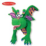 Melissa & Doug Smoulder the Dragon Puppet with Detachable Wooden Rod (Puppets & Puppet Theaters, Animated Gestures, Inspires Creativity, 15' H x 5' W x 6.5' L)